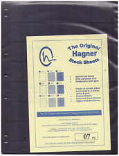 Original Hagner Stock Sheets - 7 Strip Single Sided - Pack of 10
