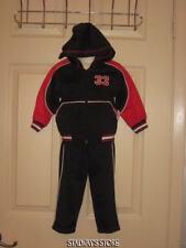 Mac Henry Hoodie Pants Sweatsuit Black Red 12 Month NEW