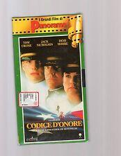 codice d'onore -tom cruise-jack nicolson-    - i grandi film di panorama- VHS