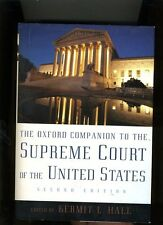 THE OXFORD COMPANION TO THE SUPREME COURT OF THE UNITED STATES. 2005. NR FINE
