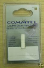 Commtel Adaptateur Double Prise Téléphone Adaptateur (doubler) avec protection surtension