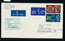 61080) LH Polar FF  Fairbanks - Tokio 29.5.64, Brief ab Grossbritannien GB/UK R!