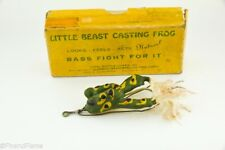 New listing Vintage Cool Ripple Little Beast Frog Antique Fishing Lure in Box Lc19