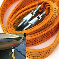 3 Ton Car Tow Cable Heavy Duty Towing Pull Strap Rope Hooks Van Road Recovery