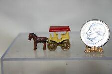 Miniature Dollhouse  Vintage Childs Toy or Figurine Horse Drawn Wagon 1:12 NR