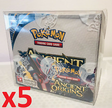More details for 5 x dust protection pokemon booster box plastic protector plastic display case