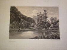 Jules LAURENS (1825-1901) GRANDE LITHO RETOURNEMER VOSGES LORRAINE BELLEL 1860