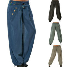 Plus Size Women's Holiday Harem Pants Loose Baggy Wide Legs Indian Yoga Trousers