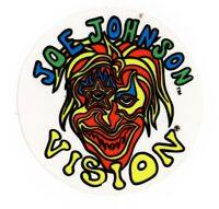 Vtg Vision Streetwear Sticker Joe Johnson Skate Skateboard NOS Decal NEON