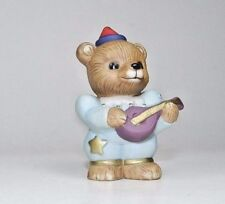 Vintage Homco Porcelain Bear Figurine - #1449 - Circus Bear Playing Mandolin