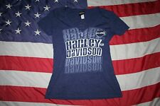 Harley-Davidson Purple Las Vegas Tee Shirt Size Medium: casual/biker/top  #4652