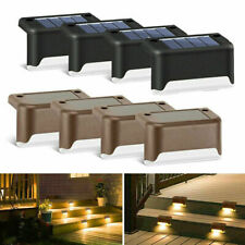 Solar Power LED Light Garden Step Stair Deck Lights Balcony Fence Lamp Newly