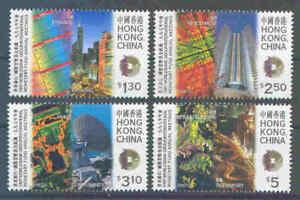"""Hong Kong -  Mi.826-29 """"IWF und Weltbank-Treffen"""" - 1997 - perfekt - **/MNH"""