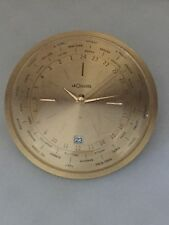 Jaeger LeCoultre Desk Clock with 8 day movement w/Calendar Date World time #482