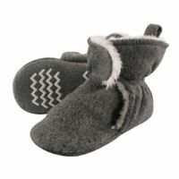 Hudson Baby Boy and Girl Sherpa Lined Scooties with Non Skid Bottom Heather Gra