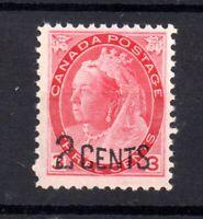 Canada 1899 2c on 3c carmine MNH SG172 WS20831
