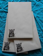 Meowing Kitten Notepad 50 Sheets 8.5 x 5.5 New Black and White Drawing - 3 pads