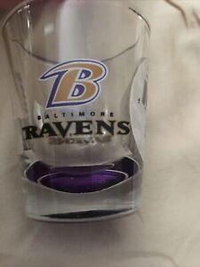 Baltimore Ravens NFL elite Shot Glass Made L USA New !