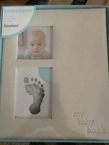 Babybook Baby Memory Book ~ Clean-Touch Ink Pad ~ Gender Neutral Pearhead Linen