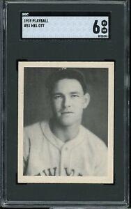 1939 Playball Baseball #51 Mel Ott SGC 6