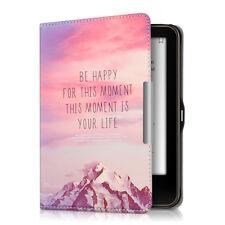 kwmobile Flip Tasche für Tolino Vision 1 2 3 4 HD Be Happy Schutz Kunstleder