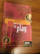 3Do 1999 Product Catalog We're Here to Play only Clean~no stickers/ writing