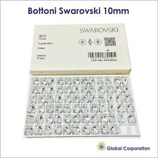 72 BOTTONI SWAROVSKI ORIGINALI ORIGINALE 10mm CRISTALLO ART. 3015 CRYSTAL CUCIRE