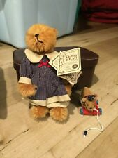 Boyds Collection Limited Edition Mohair Bear Original Box Tags and Leather Case