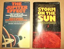 lot of 2 science paperbacks The Jupiter Effect Gribbin Storm on Sun Goodavage VG