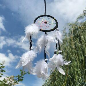 New Small Black and White Neon Thread Dream Catcher Native American Mobile