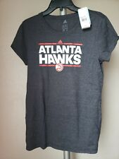 NWT Atlanta Hawks Women Burnout  T-Shirt Black adidas Sz XL