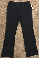 By & By Womens Size 11 Navy Polyester Blend Dress Pants A38