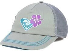 Roxy Along The Way Trucker Womens Girls Snapback Adjustable Gray Hat Cap NEW NWT