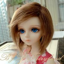 "6-7"" 16cm BJD doll fabric fur wig brown 1# for 1/6 SD Doll Dollfie antiskid"