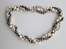 """3 Row Baroque Multicolour F.W. Cultured Pearl Necklace - 19"""" long, 5 - 9 mm"""