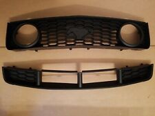 2PC Set 2005-2009 MUSTANG GT 4.6 Front Bumper Upper Lower Black Grille NEW PAIR