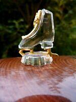wunderschöne Svarowski Crystal Memories Schlittschuhe Glas Miniatur 3 cm