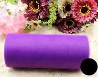 """FD4994 TUTU Spool Tulle Rolls Soft Craft Wedding Bridal Party 6"""" Wide x 25Yd"""