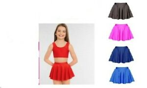 Girls Shiny Nylon  Ballet Skirt Kids Gymnastics, Dance, Circular Skirt