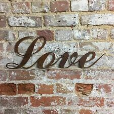 Rusty Love Lettering Letters Sign Metal Home Bar Pub Shabby Chic Vintage Wedding