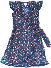 Hi There From Karen Walker Size 2 Navy W/ Cherries Wrap Dress Anthropologie