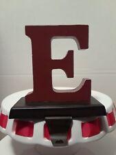 letter e christmas stocking hanger red letter on bronze