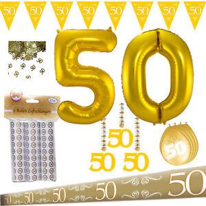 Deko Party Set Goldene Hochzeit Goldhochzeit 50. Jubiläum + Riesen Folienballon