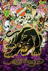 Ed Hardy Black Panther (Love Kills Slowly) 36x24 Tattoo Poster Panther and Roses