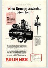 1926 Paper Ad COLOR Brunner Air Compressor  Pneumatic Valve Grinder Utica NY