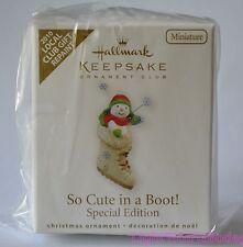 2010 Hallmark Keepsake Ornament Club Miniature So Cute in a Boot Repaint - New