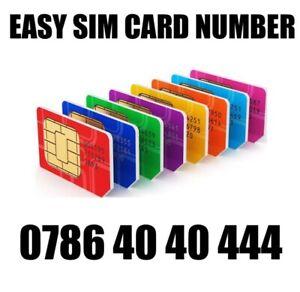 GOLD EASY VIP MEMORABLE MOBILE PHONE NUMBER DIAMOND PLATINUM SIMCARD 0786 40 40