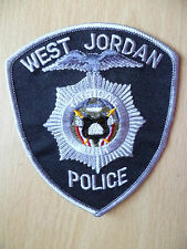Patches: WEST JORDAN TACTICAL UNIT POLICE PATCH (New, approx. 4.8x4 inch)