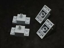 Lego Brick 2x4 with 1x2 Plates and Centre Peg [30592] - Grey x4