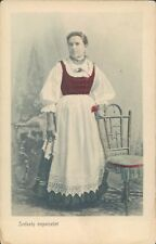 HUNGARY Traditional costume Szekely nepvidelet woman 1900s PC